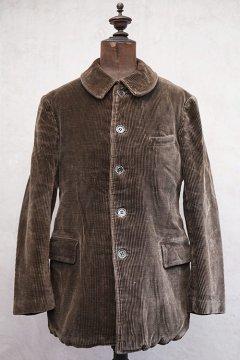 cir.1940's brown corduroy work jacket