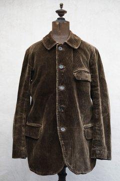 cir.1930's brown corduroy work jacket