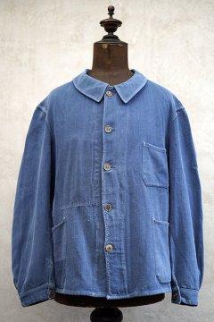 1930's-1940's blue cotton linen twill work jacket