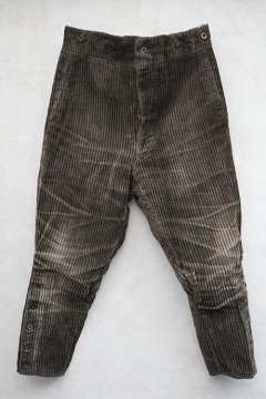 ~1930's dark  brown cord jodhpurs