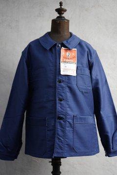 mid 20th c. blue moleskin work jacket dead stock 48