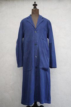 mid 20th c. blue cotton work coat