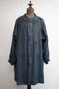 early 20th c. indigo linen smock / biaude
