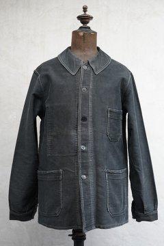 cir.1940's black moleskin jacket