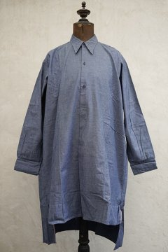 1930's-1940's blue cotton shirt dead stock