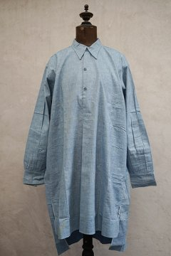 1930's-1940's indigo cotton shirt dead stock