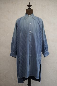 cir. 1940's striped blue shirt