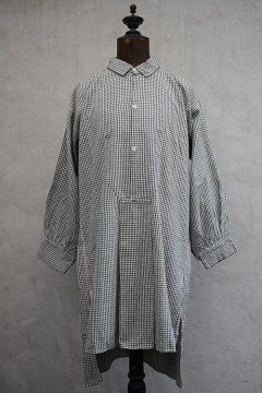 early 20th c. black&white checked cotton shirt