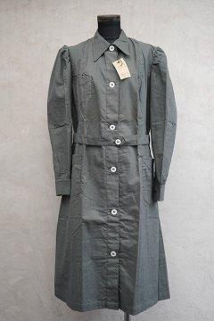 cir.1930's-1940's gray work dress/coat dead stock