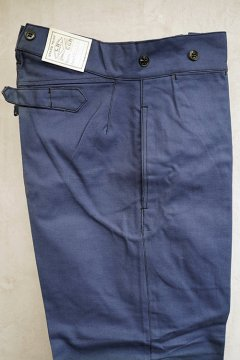 1940's blue cotton twill work trousers dead stock