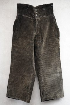 1930's-1940's dark brown corduroy work trousers