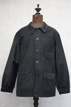 1940's black moleskin work jacket l'Idéal