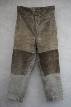 1930-1940's patched light brown cord trousers