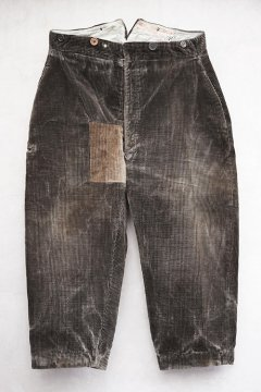 1930's dark brown corduroy trousers