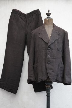 cir.1940's brown wool jacket and trousers