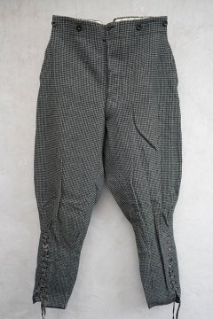 ~1930's houndstooth checked wool jodhpurs
