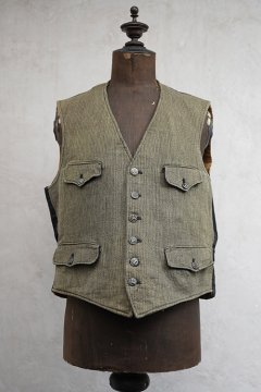 1930's-1940's gray pique hunting gilet