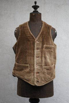 ~1930's brown corduroy work gilet