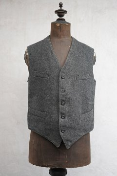 1930's-1940's gray thick wool gilet
