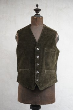 1930's brown corduroy hunting gilet dead stock