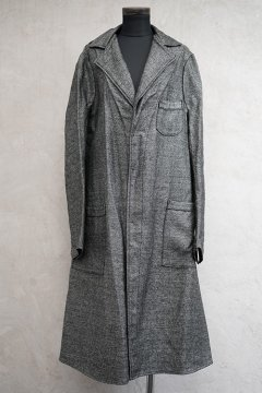 mid 20th c. unworn salt&pepper coat