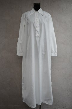 1930's dots embroidered white long dress