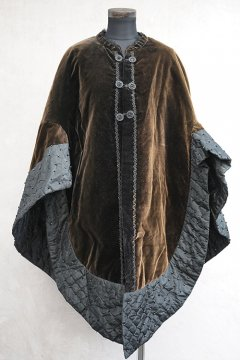 19th c. silk velvet cape