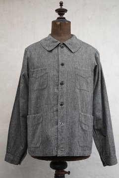 cir.1930's salt&pepper herringbone cotton work jacket