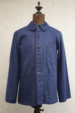 cir.1940's blue cotton twill work jacket dead stock