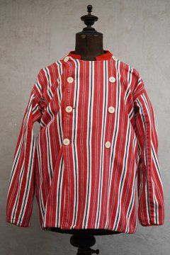 ~mid 20th c. Dutch striped red cotton jacket