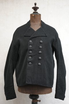 cir. early 20th c. Dutch fisherman black wool work jacket