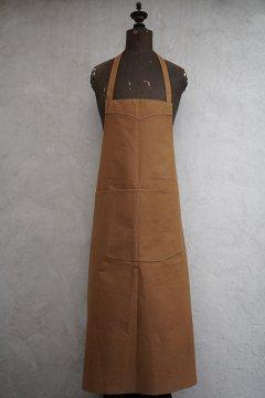 cir.1940's-1950's brown cotton canvas apron dead stock