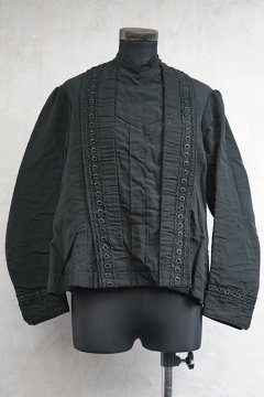 early-mid.20th c. black blouse/jacket