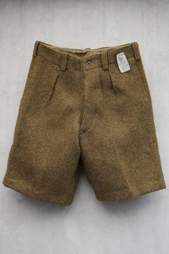 cir.1930's-1940's olive wool shorts dead stock