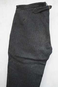 ~early 20th c. dark gray striped wool trousers
