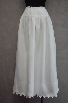 early 20th c. white long skirt