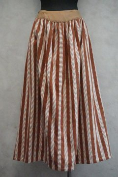 ~early 20th c. brown striped skirt
