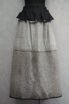 ~1900's black quilted skirt