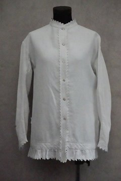 late 19th c. white long blouse / jacket