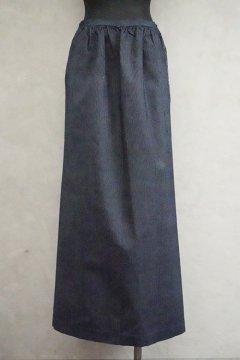 early 20th c. dead stock indigo striped apron