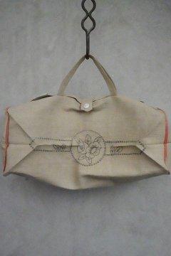 cir.1920's-30's dead stock hemp linen bag
