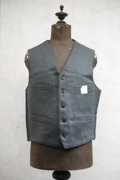 mid 20th c. gray pique work gilet dead stock
