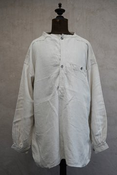 ~early 20th c. French military linen bourgeron blouse