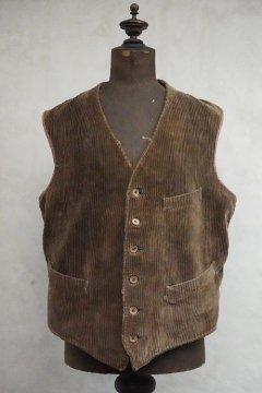 1930's-.1940's brown corduroy work gilet