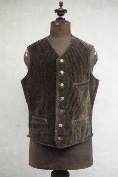 1930's-1940's brown corduroy hunting gilet