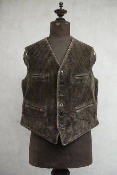 1930's brown corduroy work gilet
