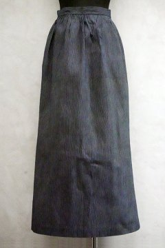 ~1930's dead stock striped indigo apron