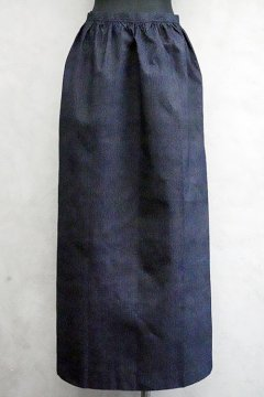 ~1930's  dead stock striped indigo long apron