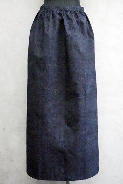 ~1930's dead stock striped indigo long apron
