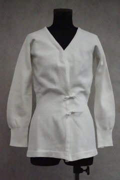 ~1930's white knitted cardi / innerwear